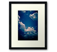Brisbane Sky - Looking Up - January 18 2011 Framed Print