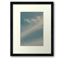 Brisbane Sky - Looking Up - January 24 2011 Framed Print