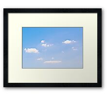 Brisbane Sky - Looking Up - January 27 2011 Framed Print