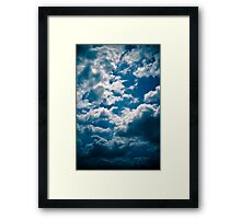 Brisbane Sky - Looking Up - January 28 2011 Framed Print