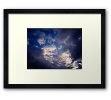 Brisbane Sky - Looking Up - January 30 2011 Framed Print