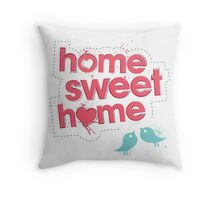 Home Sweet Home - Pink Throw Pillow