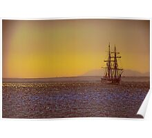 Egypt. Hurghada. Tall Ship at the Red Sea. Poster
