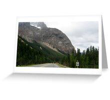 Road between Crazy Creek & Kamloops, Alberta, Canada. Greeting Card