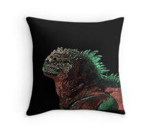 Marine Iguana (Colorized) Throw Pillow