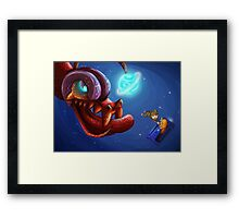 Doctor Who and the monster Framed Print
