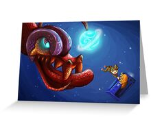 Doctor Who and the monster Greeting Card