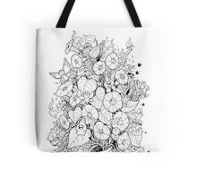 Flower and Monsters - Morning Glory Tote Bag