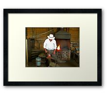 Horseshoes Made to Measure Framed Print