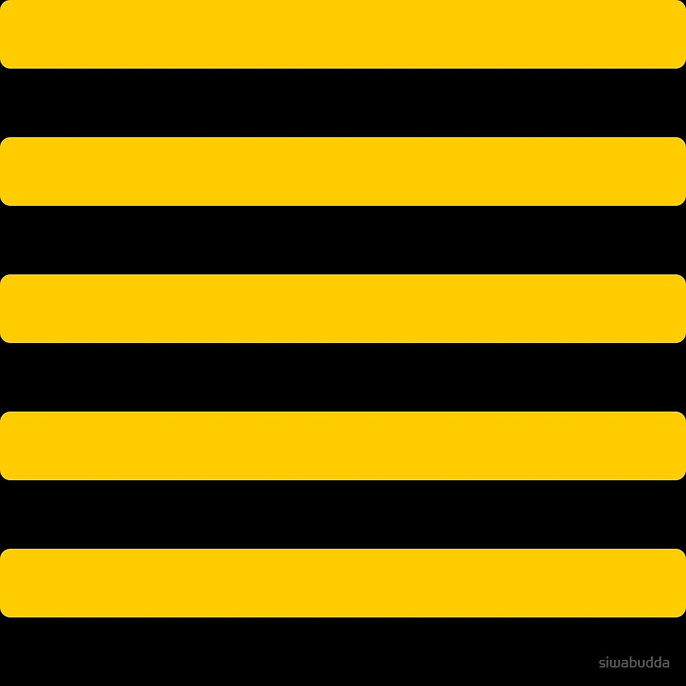 Quot Bee Pattern Black And Yellow Stripes Quot By Siwabudda