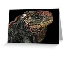 Andros Iguana (Colorized) Greeting Card
