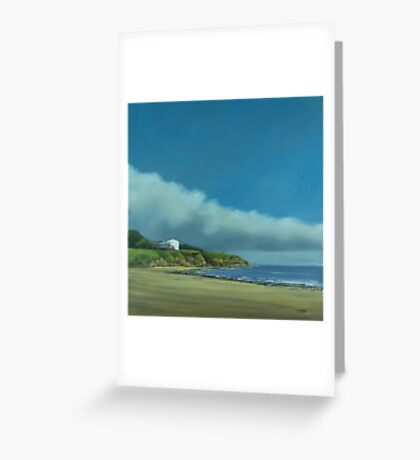 Blue skies and sandy beaches Greeting Card