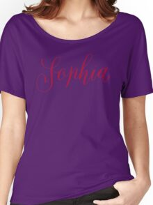 Sophia - Modern Calligraphy Name Design Women's Relaxed Fit T-Shirt