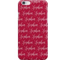 Sophia - Modern Calligraphy Name Design iPhone Case/Skin