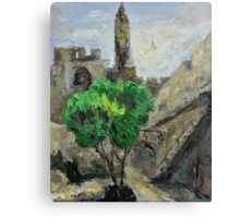 David Tower in Old David City Canvas Print