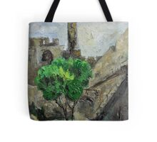 David Tower in Old David City Tote Bag