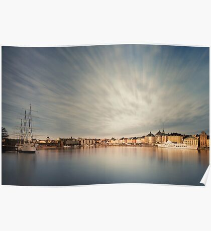 Stockholm dawn. Poster