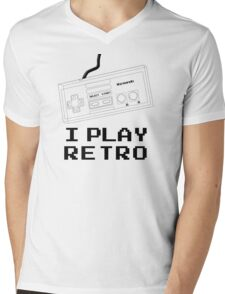 I Play Retro - Nintendo Joystick Mens V-Neck T-Shirt