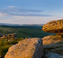 Panoramic view of Black Tor, Dartmoor, Devon.  by Justin Foulkes