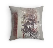 Chinese Dragon - Textured Patterns Throw Pillow