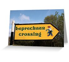 leprechaun sign post Greeting Card