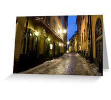 Old Town Greeting Card
