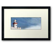 lighthouse fog Framed Print
