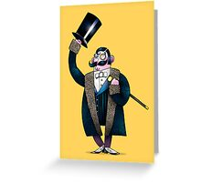 Gentleman with top hat Greeting Card