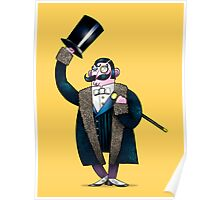 Gentleman with top hat Poster