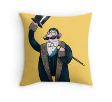 Gentleman with top hat Throw Pillow