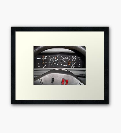 Delorean Wheel Framed Print