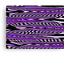 Purple Stripes Abstract Canvas Print