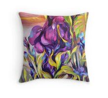 Wild Iris Bank Throw Pillow