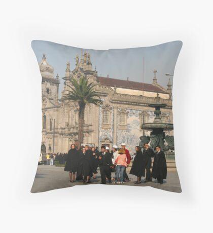 Students in Porto Throw Pillow