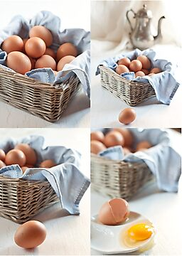 Variations on eggs by Ilva Beretta
