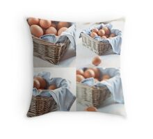Variations on eggs Throw Pillow