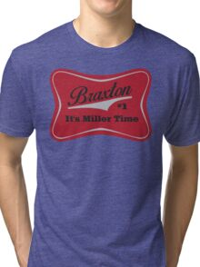 Braxton - Miller Time #1 - Houston Texans - White Tri-blend T-Shirt