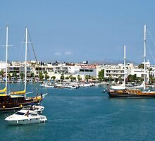 Kos town harbour by Maria1606