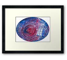 TARDIS in space 02 Framed Print