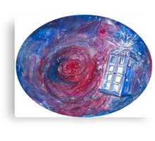 TARDIS in space 02 Canvas Print