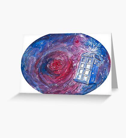 TARDIS in space 02 Greeting Card