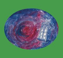 TARDIS in space 02 Kids Tee