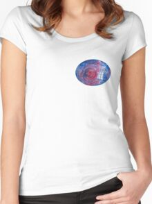TARDIS in space 02 Women's Fitted Scoop T-Shirt