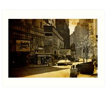 New York reconstructed Art Print