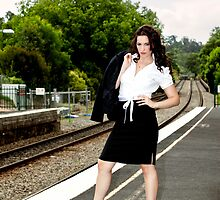 Waiting for a Train by Malcolm Katon