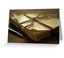 Writing Greeting Card