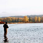 Steelhead Fishing at Sunrise by Ted Widen