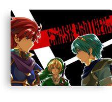 Super Smash Bros - Roy, Link and Marth  Canvas Print