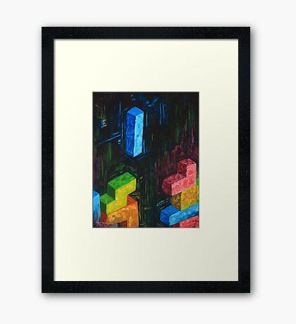 Tetris Tribute Framed Print