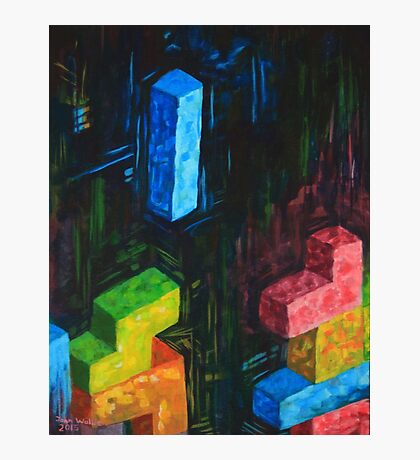 Tetris Tribute Photographic Print
